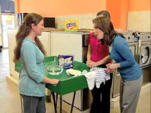 Removing the toughest stains on baby clothes with Biz