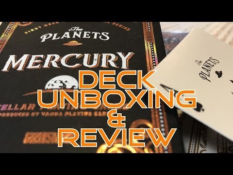 The Planets: Mercury Playing Cards - Unboxing & Review