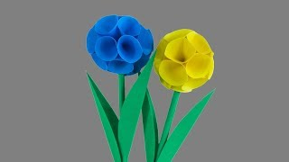 By Handy Crafts How To Make Round Paper Flower