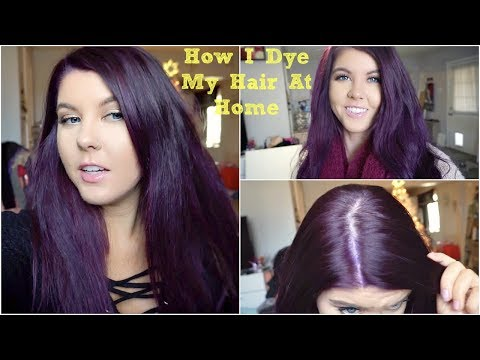 How I Dye My Hair Purple Without Bleach | VLOG