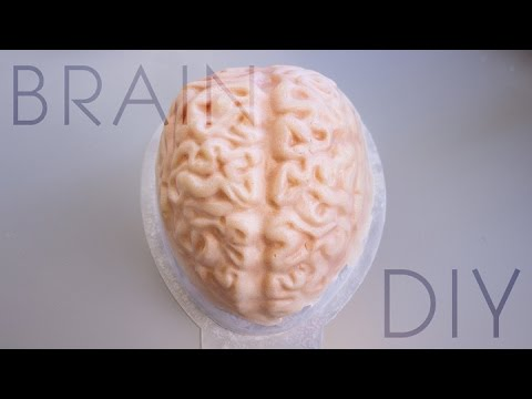 DIY Gelatin Brain Cap | #CourtneyLittleHalloween
