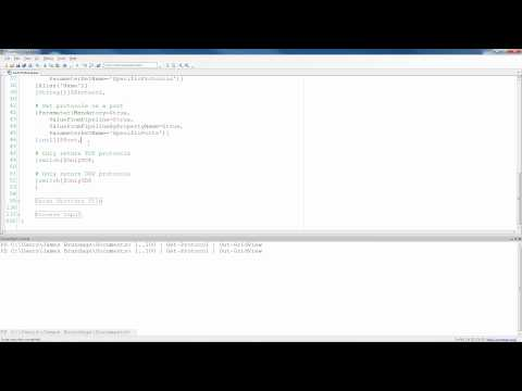 Writing PowerShell Functions - Get-Protocol Part 4 - begin,process, and end blocks