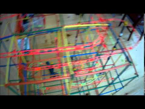 Straws and Connectors Marble Run