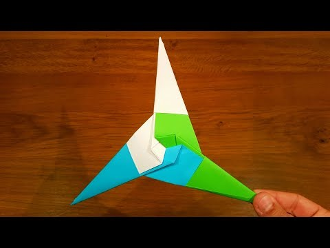How To Make a Paper Three pointed shuriken - Origami