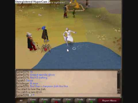how to fish bare handed in runescape