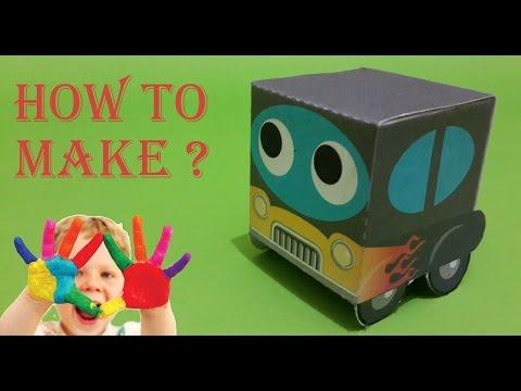HotRod car For Children - Paper toys for Children