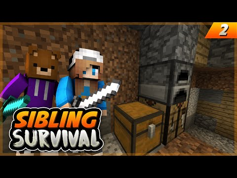 OUR CRIB TOUR! - Sibling Survival EP.2 - Minecraft PE (Pocket Edition)
