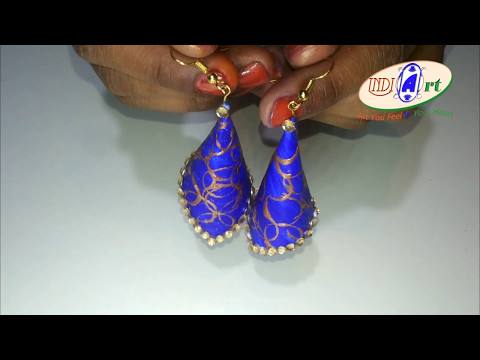 How to make Paper Earrings | made out of paper | INDI ART | #17