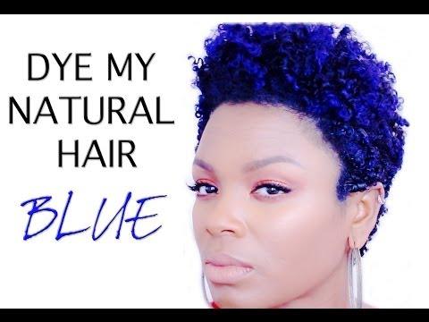 NATURAL HAIR: HOW I DYE + BLUE HAIR