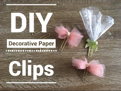 DIY Paper Clip Embellishments | How to make Decorative Paper Clips|Pocket Letters |DIY Planner Clips