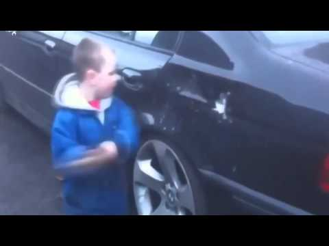 Oh no This Kid Breaking My Car with Hammer very Funny
