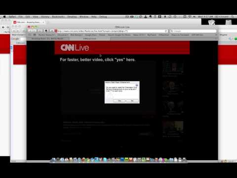 Why can't I watch CNN Live on my Mac
