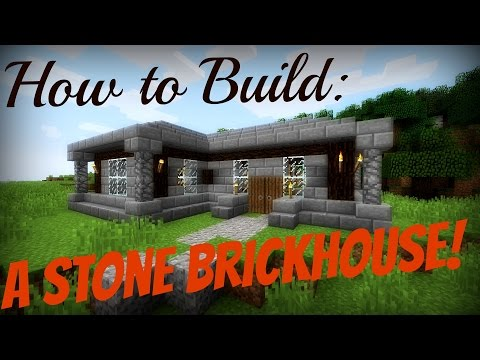 Minecraft How to Build Part: 1 | A Stone Brick/Spruce Wood House!