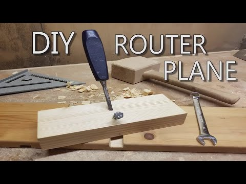 DIY How To Make A Router Plane / BCDesign01