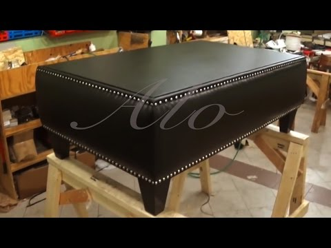 DIY: HOW TO UPHOLSTER A COFFEE AND ADD DECORATIVE NAILS - ALO Upholstery