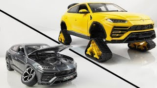 Restoration/Customization Lamborghini Urus Into a Tracked Sport Car - Model Car Customization