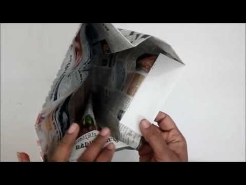 How to make Newspaper Bag for Home Delivery
