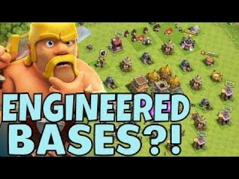 CLASH OF CLANS!! ENGINEERED BASE/ EXPLAINED ! IN HINDI!!  HOW TO MAKE ENGINEERED BASE ??