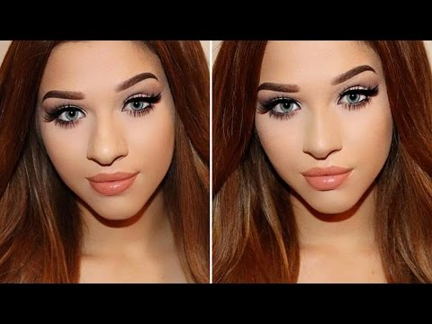 Makeup for small eyes and big nose