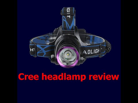 BEST HEADLAMP FOR A BUDGET - Cree XM-L T6 Beam 1800 Lumens Headlamp- REVIEW