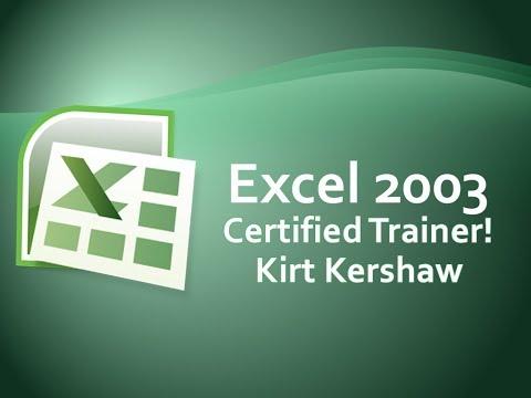 Excel 2003: Split Worksheet or Split Spreadsheet into 2 or 4 Windows