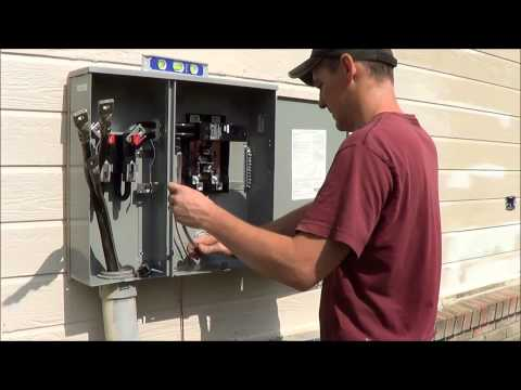 Electrical Meter Base Install - Time Lapse