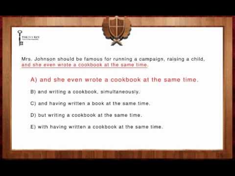 SAT Writing - Improving Sentences - Easy 1