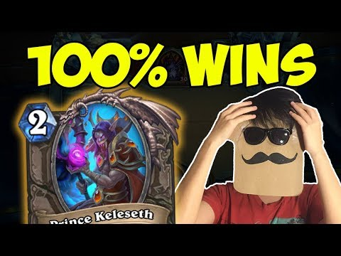This deck is OVERPOWERED! 100% Win Rate to LEGEND! | Tempo Rogue with Prince Keleseth | Hearthstone