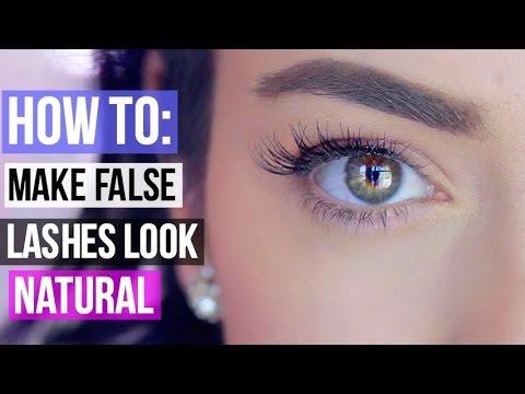 How To Make False Eyelashes Look Natural! =)