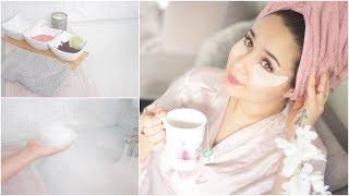 روتين العناية الكامل: البشرة, الشعر و الجسم + خلطات طبيعية | Shower Routine W/Aveeno
