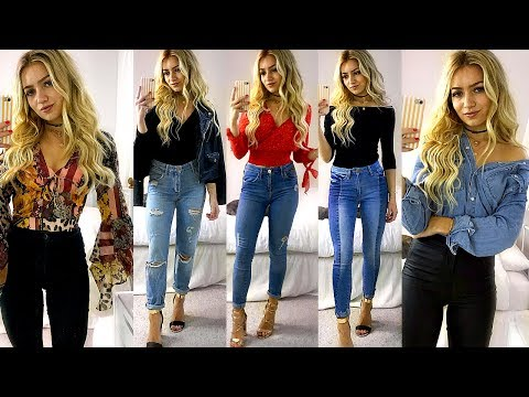 JEANS & A 'NICE' TOP OUTFIT IDEAS / SMART CASUAL LOOKBOOK