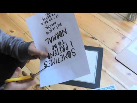How to make quote wall art