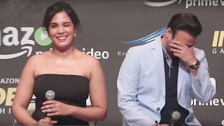 Richa Chadda Funny Reply to Reporter At Inside Edge Trailer Launch