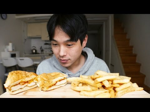 Chicken Parmesan Sandwich - MUKBANG