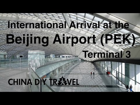 Beijing airport (PEK): International arrival at the Terminal 3