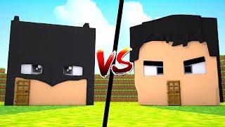 CASA BATMAN vs CASA SUPERMAN !!! - MINECRAFT