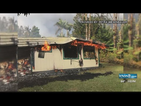 Lava overtakes B&B owner's home