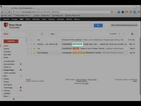 Google Mail: Creating a Filter to Highlight Messages from a Specific Sender with a Colored Label