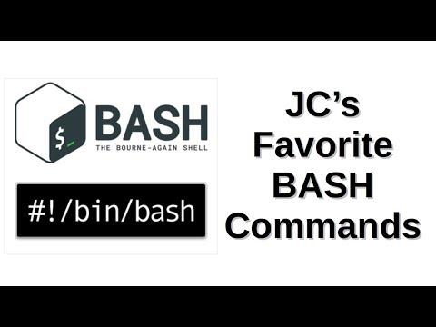 JC's Favorite BASH Commands