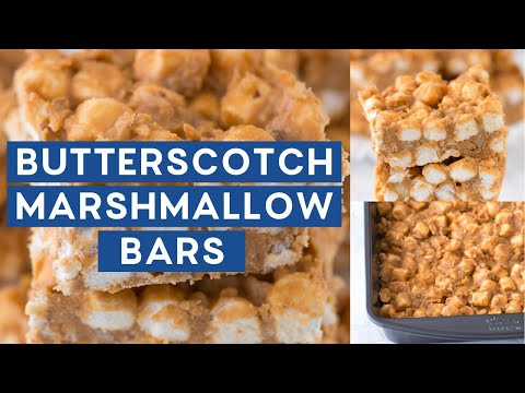 No Bake Butterscotch Marshmallow Bars
