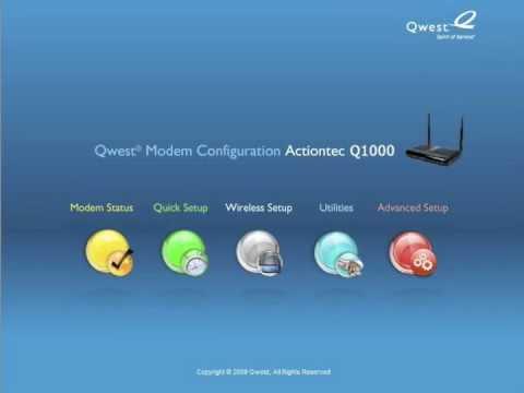 How to Set up an Administrator User Name and Password on the Q1000 Qwest VDSL Modem Router