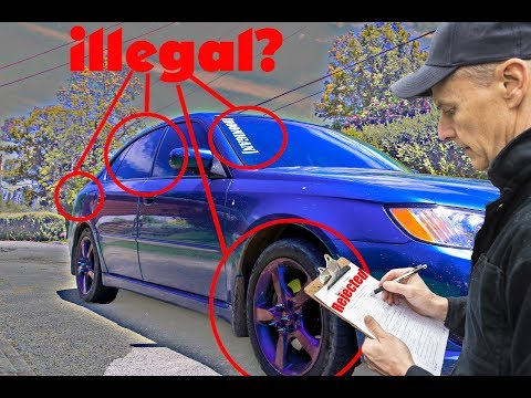 Can You Get Your Car Inspected with 20% Window Tint, Blacked Out Tail Lights, Window Sticker, etc?
