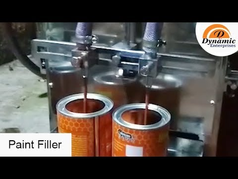 Paint Filling Machine red oxide filling machine. Enamel paint fillingoil paint Filler colour Filling