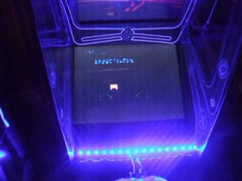 my home made xbox TRON cab with coinops 5