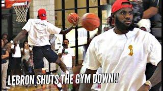 LeBron James CRAZY DUNKS During Bronny
