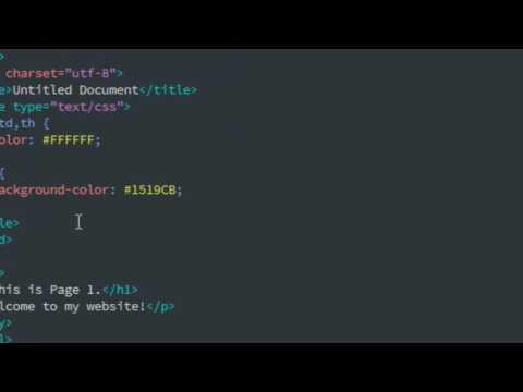 Creating an External Stylesheet in Dreamweaver CC