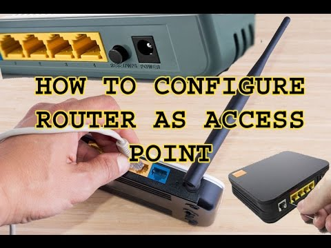 how to configure router as access point 2017 Urdu/Hindihow to configure a router