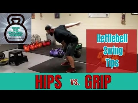 HIP Vs GRIP in the Heavy Kettlebell Swing !