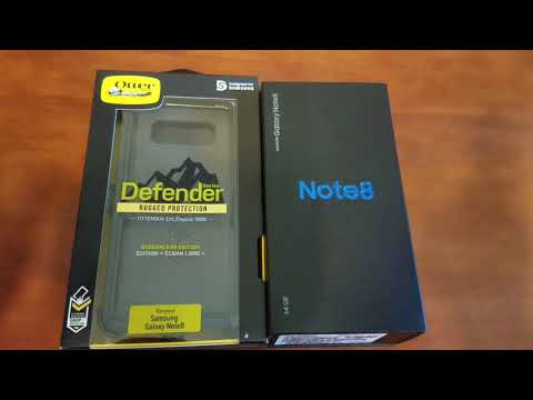 Putting Otterbox Defender case on Samsung Galaxy Note 8!