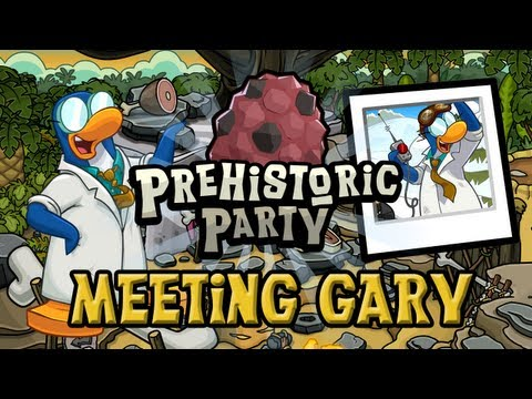 Club Penguin Meeting Gary Prehistoric Party January 2013